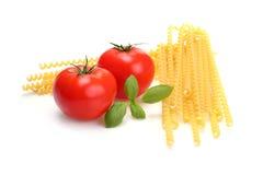 Het ingrediënt van de spaghetti Stock Foto's