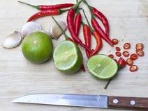 Het ingrediënt voor het koken treft voorbereidingen Stock Foto's