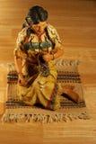 Het Inheemse Amerikaanse Beeldhouwwerk van het tafelblad Stock Foto's