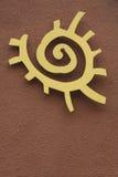 Het inheemse Amerikaanse Symbool van de Zon Royalty-vrije Stock Afbeeldingen