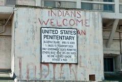 Het inheemse Amerikaanse teken van het Beroep Alcatraz royalty-vrije stock fotografie