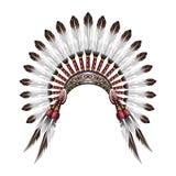Het inheemse hoofddeksel van de Indiaan Royalty-vrije Stock Afbeeldingen