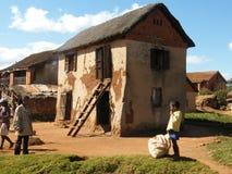 Het inheemse huis van Madagascar royalty-vrije stock afbeelding