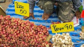 Het inheemse plantaardige verkopen bij straatvoedsel royalty-vrije stock foto's