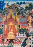 Het inheemse Thaise muurschildering schilderen Stock Afbeeldingen