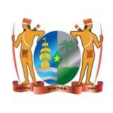 Het inheemse wapenschild van de Suriname Stock Afbeeldingen