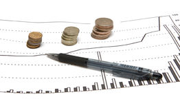 Het inkomensgrafiek van het geld Royalty-vrije Stock Fotografie