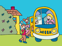 Het Inschepen van de bus Royalty-vrije Stock Foto