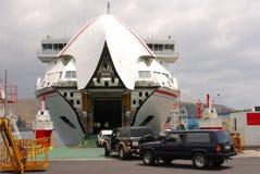 Het inschepen van de veerboot stock afbeelding