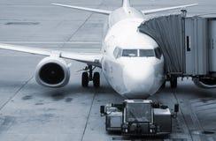 Het inschepen van vliegtuigen royalty-vrije stock afbeelding