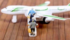 Het inschepen vliegtuig Royalty-vrije Stock Afbeelding