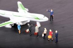 Het inschepen vliegtuig Stock Fotografie