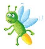 Het insect dat van de bliksem op de linkerzijde vliegt Stock Foto's