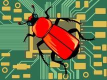 Het insect van de computer royalty-vrije illustratie