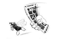 Het insect van de vlieg royalty-vrije illustratie