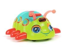 Het insect van het stuk speelgoed op witte achtergrond stock afbeeldingen