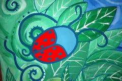 Het insectengraffiti van de dame   Royalty-vrije Stock Foto's