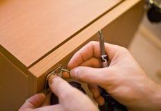 Het installeren van het meubilair Stock Foto