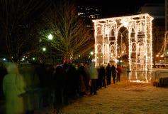 Het instemmen van het met nieuwe jaar in Boston Stock Foto