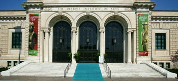 Het Instituut van Detroit van Arts. stock afbeeldingen