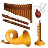 Het instrument van de houtmuziek vector illustratie