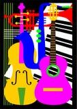 Het instrument van de muziek Stock Afbeelding