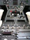 Het instrumentale paneel van vliegtuigen Stock Afbeelding