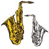 Het instrumentenreeks van de muziek Royalty-vrije Stock Afbeeldingen