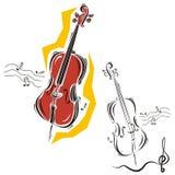Het instrumentenreeks van de muziek Royalty-vrije Stock Foto's