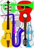 Het instrumentenvector van de muziek Stock Foto