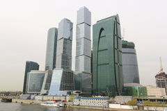 Het internationale commerciële centrum van Moskou - Stad Royalty-vrije Stock Foto's