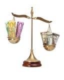 Het internationale concept van munttarieven Royalty-vrije Stock Afbeelding