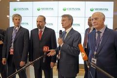 Het internationale economische forum van St. Petersburg royalty-vrije stock foto's