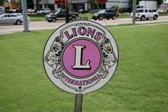 Het Internationale Embleem van Lions Club royalty-vrije stock afbeelding