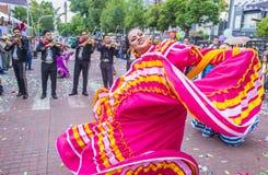 Het internationale festival van Mariachi & Charros- stock afbeeldingen