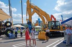 Het internationale materiaal van de tentoonstellingsbouw en technologieën op 06 JUNI, 2013. Moskou, Rusland. Stock Foto