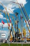 Het internationale materiaal van de tentoonstellingsbouw en technologieën op 06 JUNI, 2013. Moskou, Rusland. Royalty-vrije Stock Foto