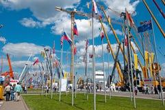 Het internationale materiaal van de tentoonstellingsbouw en technologieën op 06 JUNI, 2013. Moskou, Rusland. Royalty-vrije Stock Fotografie