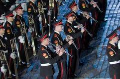 Het internationale militair-muzikale festival Stock Afbeelding