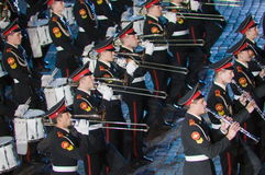 Het internationale militair-muzikale festival Stock Foto