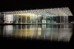 Het Internationale Theater van Bahrein bij nacht Stock Fotografie