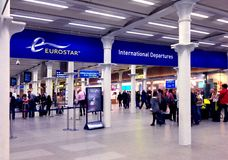 Het Internationale Vertrek van Eurostar Royalty-vrije Stock Afbeeldingen
