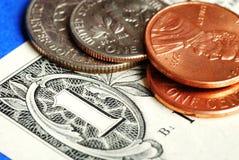 Het investeren en de rijkdom van het geld Stock Afbeelding