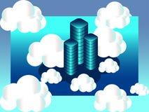Het isometrische wolk concept van de gegevensverwerkingsdiensten stock illustratie