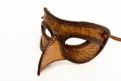 Het Italiaanse halve masker van het leer Royalty-vrije Stock Foto