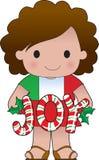 Het Italiaanse Meisje van Kerstmis Royalty-vrije Stock Fotografie
