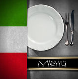 Het Italiaanse Ontwerp van het Restaurantmenu Royalty-vrije Stock Foto's