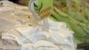 Het Italiaanse roomijs van banaangelato Stock Foto