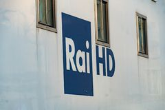 Het Italiaanse symbool van Rai HD royalty-vrije stock foto