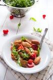 Het Italiaanse traditionele vegetarische voedsel van angiolettifritti Stock Foto